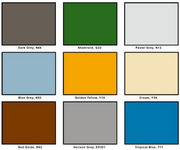 Poly-Tech Colour Chart
